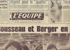 journal  l'equipe 05/08/74 NATATION ROUSSEAU et BERGER FOOTBALL CESAR SKOBLAR