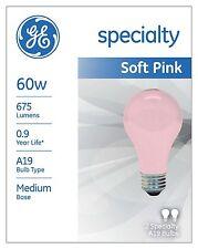 GE Soft Pink Wedding Party Mood 60 60w or 100 Watt Relaxing Light Bulb 97483