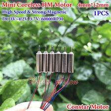 4mm*12mm DC 3.7V 60000RPM Ultrahigh High Speed Micro Mini Coreless HM Motor Toy