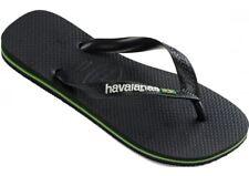 Havaianas Brasil Logo NBoir Blanc Unisex Beach Flip Flops