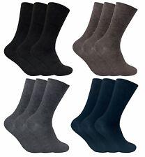 3er Pack Herren Extra Weit Winter Thermosocken Diabetiker Socken ohne Gummi