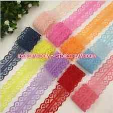 BF95 12 Yards Beautiful Handicrafts Embroidered Net Lace Trim Ribbon Wholesale