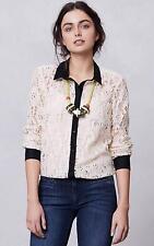 NEW Anthropologie Vanessa Virginia Gemma Lace Buttondown  Size 2-4-8