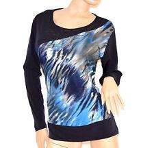 MAGLIA donna TAGLIE COMODE 48-54 maglietta maniche lunghe girocollo maglione 80