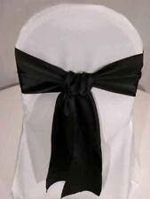 noir satin Mariage fete deco Housse de Chaise Noeuds ouvrants rubans nœud bande