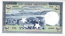 Líbano Líbano SIRIA Billete 100 LIBROS 1952 P60s MUESTRA NUEVO UNC