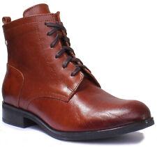 Justin Reece 8100 Women Leather Matt Brown Military Boots