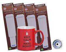 4x Filtro de Agua Para Jura Impressa BLANCO + motiv-kaffeetasse
