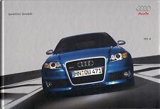 Audi RS4 Saloon & Avant 4.2 V8 2005-06 UK Market Hardback Sales Brochure A4