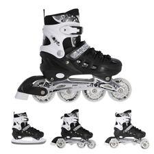 4in1 Skates Rollschuhe Schlittschuhe Nils Blacky 31-34 35-38 39-42 verstellbar