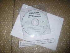 CD pop steel pulse-when you 're in Love... (3 chanson) promo ultrapop le reggae