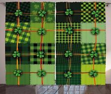 Irish Curtains 2 Panel Set Decor 5 Sizes Available Window Drapes Ambesonne