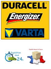 Piles jetables/rechargeables accu DURACELL/ENERGIZER/VARTA AAA/AA PRIX DEGRESSIF