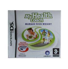 Mi salud entrenador: administre su peso Cartucho de video juego Nintendo Ds Caja Manual