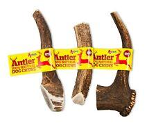 2 x Antler Dog Chews Small Medium Large XL Stag Deer Bar Horn Natural Chew Antos