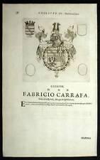 FABRICIO CARRAFA et PAULO SAUELLO Heraldisme 1667