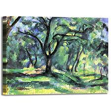 Cezanne foresta design quadro stampa tela dipinto con telaio arredo casa