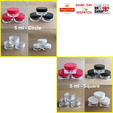 Kreis & Quadratisch 5ml Schrauben Top, Döschen Topf Behälter Lippenbalsam