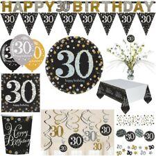 30. compleanno oro argento nero ARTICOLI DA FESTA DECORAZIONE numero set