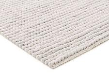 DIAMONDS SITARY GREY WOOL FLATWEAVE RUG Grey Cream 3 sizes Modern Floor Mat