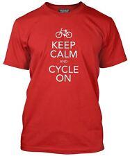 Keep Calm y ciclo en Rojo Camiseta Para Hombre Bicicleta de ciclismo Jersey