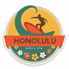 2 X 10 Cm Honolulu Hawai Usa Bandera pegatina de Vinilo calcomanía auto Laptop Equipaje # 9473