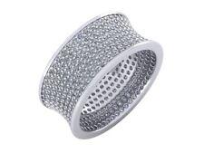4Ct Round Cut Diamond 7Row Concave Wedding Eternity Band Ring 10k Gold KL I1