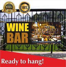 Wine Bar Banner Vinyl / Mesh Banner Sign Flag Many Sizes Wine Shop