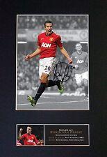 ROBIN VAN PERSIE No2 Man Utd Signed Mounted Autograph Photo Prints A4 389