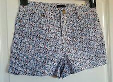 Juniors Shorts High Waisted Short Blue Pink Brown Floral Joe Boxer 1 15 NWT New