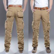 NEW Men Cotton ARMY Military Pants Trousers Combat Casual Cargo Plus Size Plain