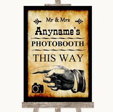 Western Photobooth de esta manera izquierda Personalizado De Boda Letrero