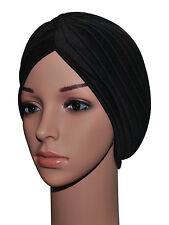 Womens Turban Style Pleated Stretch Fashion Yoga Indian Head Wrap Headscarf Hat
