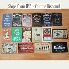 Alcohol Signs, Alcohol Tin Signs, Alcohol Sign, Alcohol Gifts Liquor Sign Metal