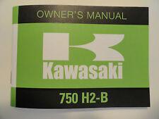 1974 Kawasaki 750 H2B Rider's Handbook Owner's Manual H2 B Riders Owners Shop
