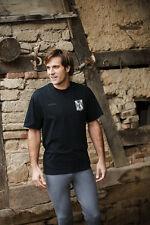 Equi Theme Mens Podium 100% Cotton Horse Equestrian tshirt-Black