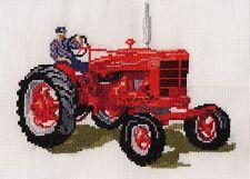 Farmall M Tractor puntada cruzada contada kit/chart 14s Aida