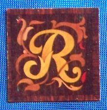 """1932 Garbaty Tarso Holzbilber Wood Tile Cigarette Card """"R"""""""