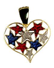 Patriotic Heart & Stars Neckslide