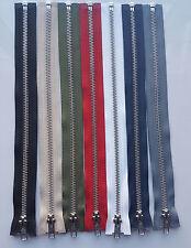 DIENTES De Plata De Metal YKK De Marca Cremallera Final Abierto (elección de longitud y color) Gratis P&p