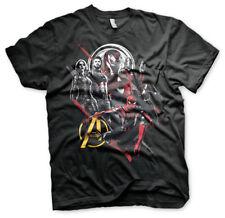 Avengers Infinity War EROI Ufficiale MArvel Ironman Starlord Nero Da Uomo T-shirt