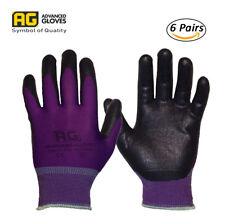 Ag NiTex P-200 Purple, Nitrile-Foam Coated Glove, 6 Pairs, work glove, breathing