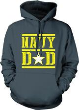 Navy Dad Proud Parent Military Star Emblem Ship Father Of USA Hoodie Sweatshirt