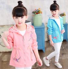 Kids Baby Girls Spring/Autumn Coat Long Sleeve Hooded Wind Coat Floral Jacket