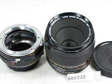 MINOLTA MC 50mm 3.5  MACRO LENS W/1:1 EXTENSION MINT/CAPS