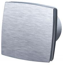 Abluftventilator mit Frontblende aus gebürstetem Aluminium, kugelgelagert, 100mm