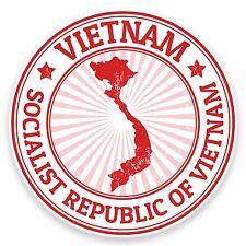 2 x 10cm Vietnam Vinyl Sticker Decal Laptop Car Bike Luggage Travel Flag #9199