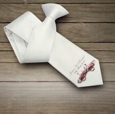 Wedding Personalised Neck Tie Mens Gift Any Name Date Best Man Groom Present