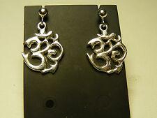 orecchini in argento  925  **OM** earrings OM sterling silver