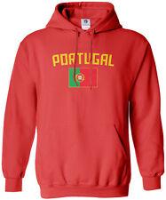 Threadrock Women's Portugal Flag Hoodie Sweatshirt Portuguese Lisbon Soccer